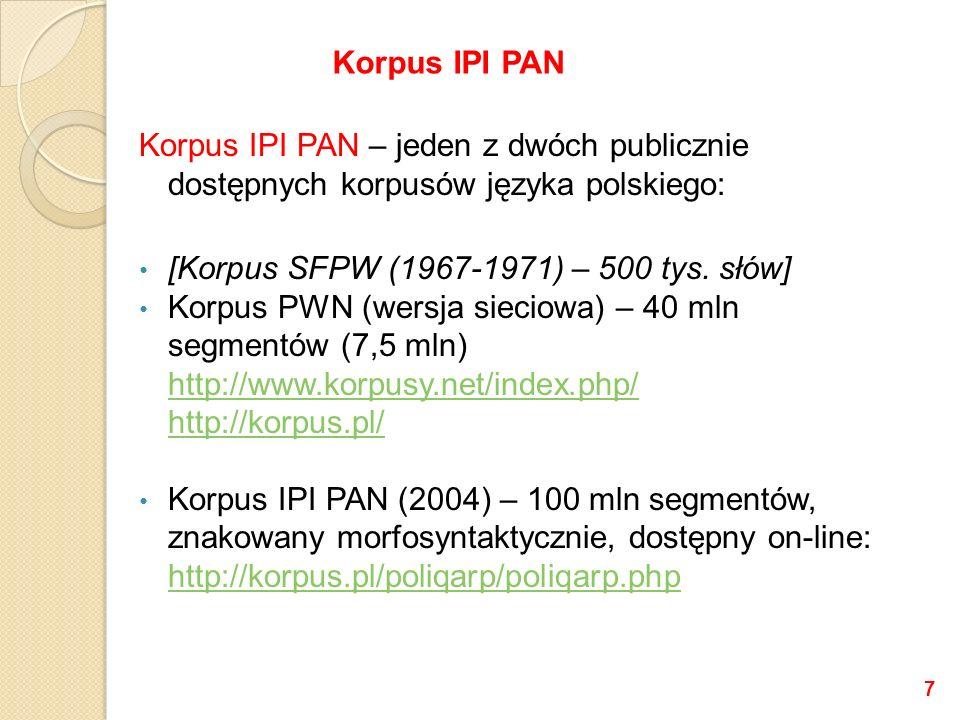 [Korpus SFPW (1967-1971) – 500 tys. słów]